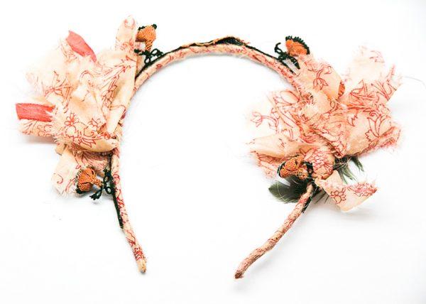 tocado artesano joyas seda
