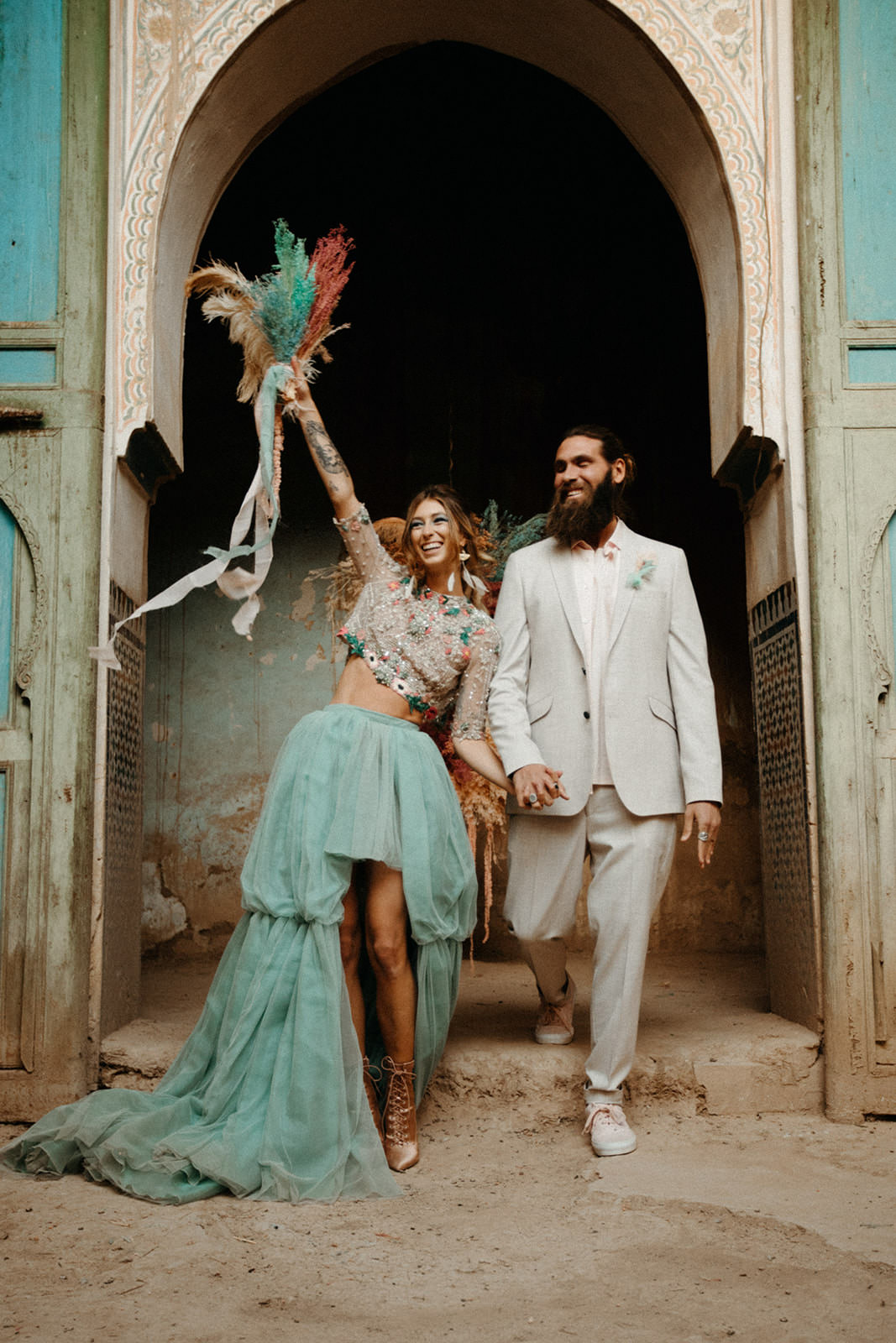 Elopment in an abandoned palace in Morocco