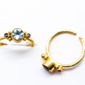 anillo topacio